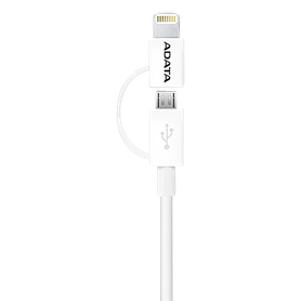 ADATA Lightning cavo 2 in 1 bianco Sync & Charge 1 m - Autoscatto Store