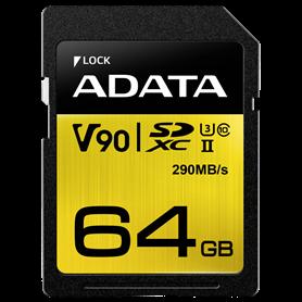 ADATA SDXC UHS-II U3 Class 10 64GB Premier One - Autoscatto Store