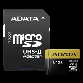 ADATA microSDXC UHS-II U3 64GB Premier One con adatt. - Autoscatto Store product_reduction_percent
