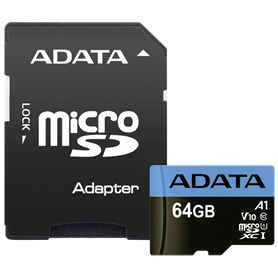 ADATA microSDXC UHS-I Class 10 64GB Premier con adatt. A1 - Autoscatto Store product_reduction_percent
