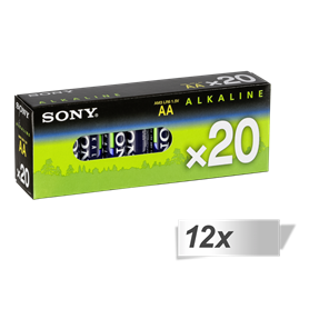 12x20 Sony Alkaline Multipack Micro AAA LR 3   AM3-M20X - Autoscatto Store