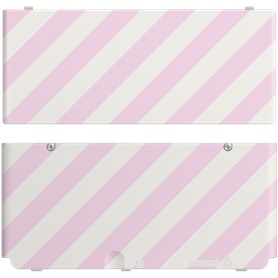 Nintendo New 3DS Coverplate rosa-bianco a strisce - Autoscatto Store product_reduction_percent