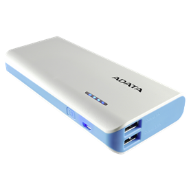 ADATA Powerbank PT100 bianco/blu 10000 mAh con Flashl - Autoscatto Store