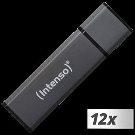10x1 Intenso Alu Line    16GB USB Stick 2.0 antracite - Autoscatto Store