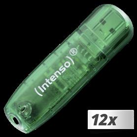 10x1 Intenso Rainbow Line  8GB USB Stick 2.0 - Autoscatto Store