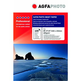 AgfaPhoto Professional Photo carta 260 g satino 10x15 100 p. - Autoscatto Store