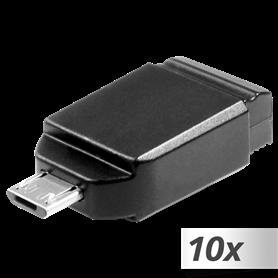 10x1 Verbatim Store n Stay 16GB USB 2.0 + OTG adatt. micro U - Autoscatto Store