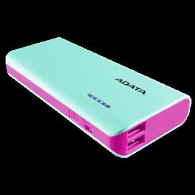 ADATA Powerbank PT100 blu/pink 10000 mAh con Flashlight - Autoscatto Store