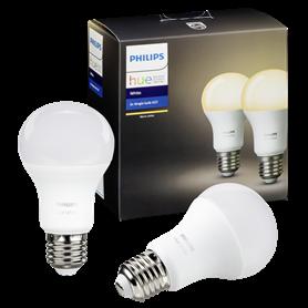 1x2 Philips Hue LED lampadinaE27 9,5W (60W) bianco caldo 800 - Autoscatto Store