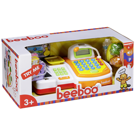 Beeboo Kitchen Toy Cash Register with Conveyor Belt and Scan