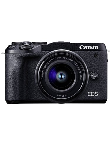 Canon EOS M6 Mark II Set + EF-M 15-45 IS STM