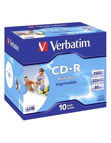 1x10 Verbatim Data Life Plus JC CD-R 80 / 700MB, 52x, printa