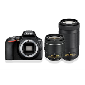 Nikon D3500 + AF-P DX18-55 VR + AF-P DX 70-300 VR + SD 16GB - Autoscatto Store